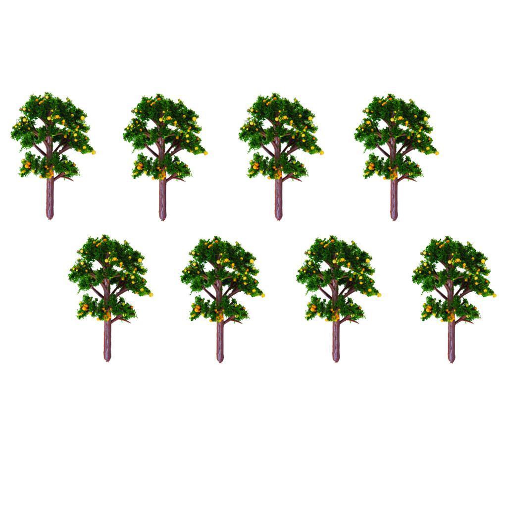 20Pcs Scenery Landscape Model Banyan Tree Yellow Fruit Trees 1/100 Scale