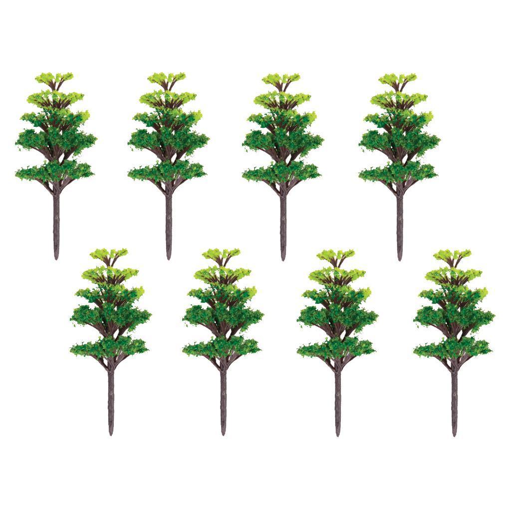 20Pcs Green Leaf Scenery Landscape Model Trees Red Maple 1:100 Scale