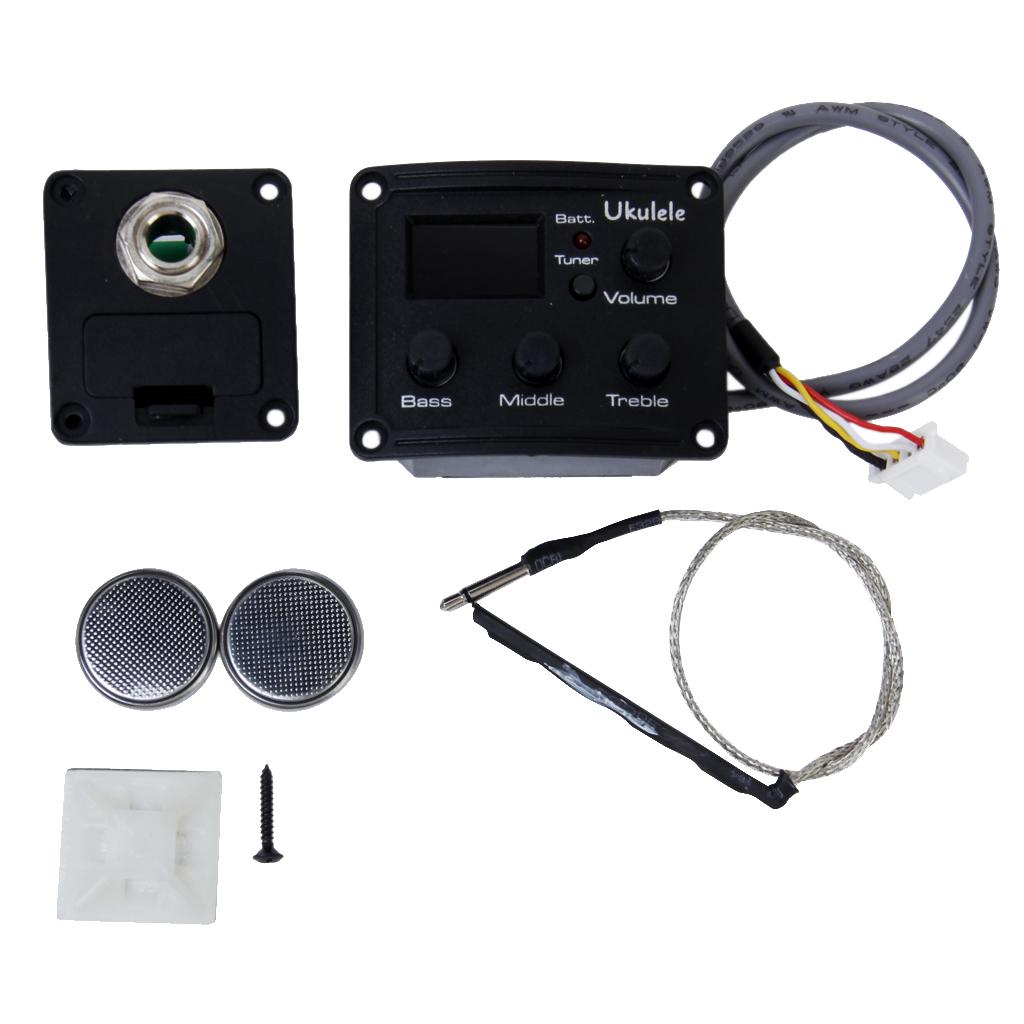 3 Band EQ Ukulele Equalize Pickup system with tuner