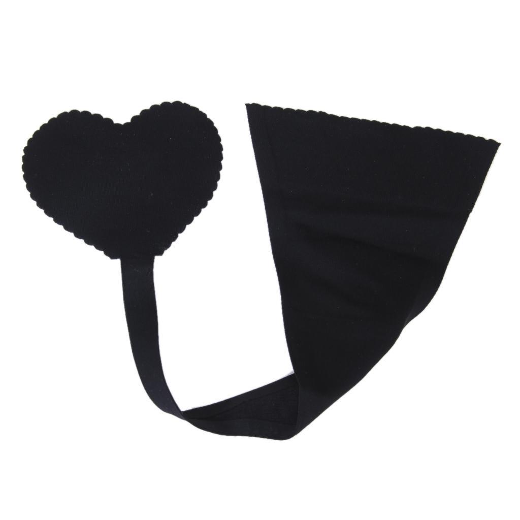 Sexy Women Ladies Strapless Adhesive Panty Soft Underwear Seamless C-string Size S Black