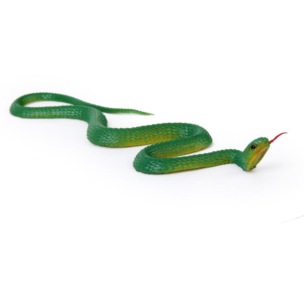 Rubber Snake Pretend Trick Toy Garden Props-Green
