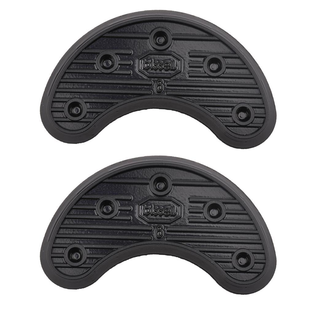 Footful 1 Pair of Glue on Heel Anti Slip Rubber Shoe Repair Thickness 4mm