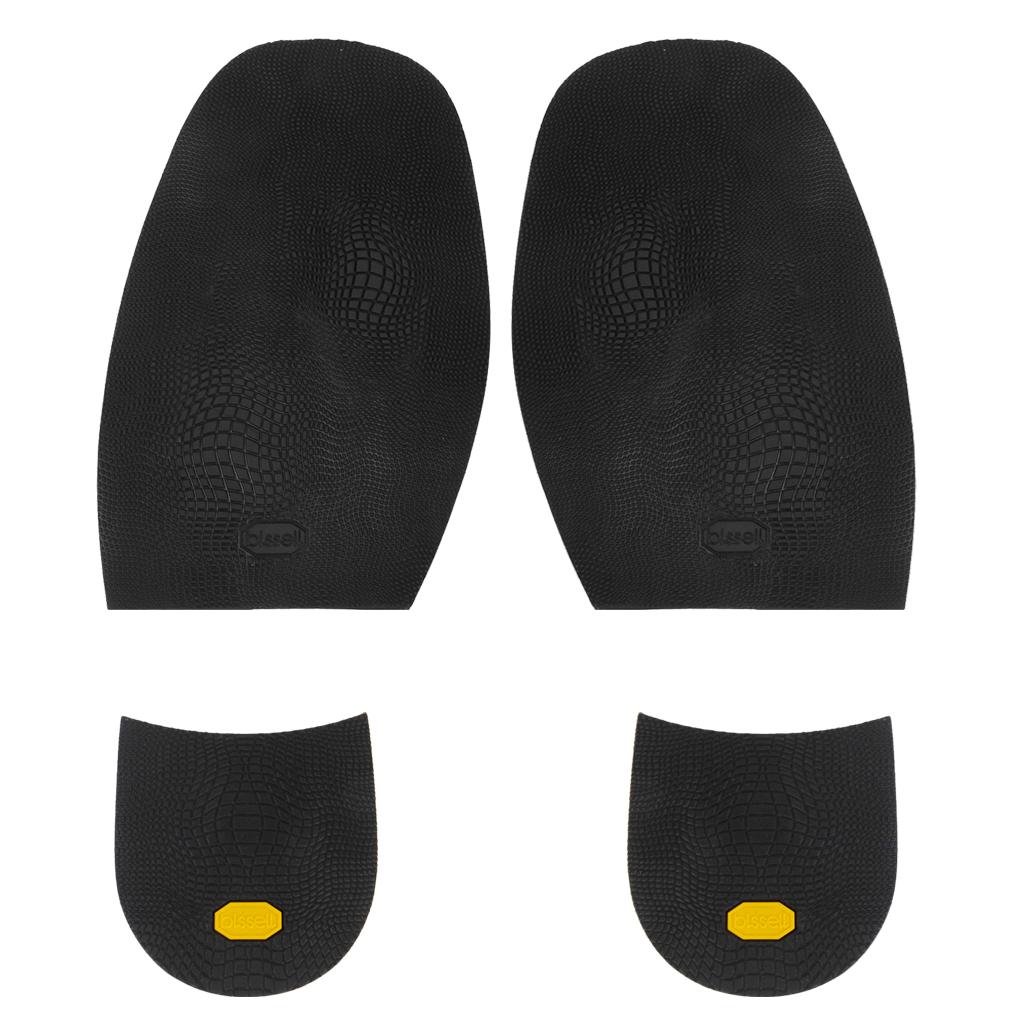 Footful Rubber Glue on Soles Medium 1.9mm Heels 6.5mm Alligator Grain Black
