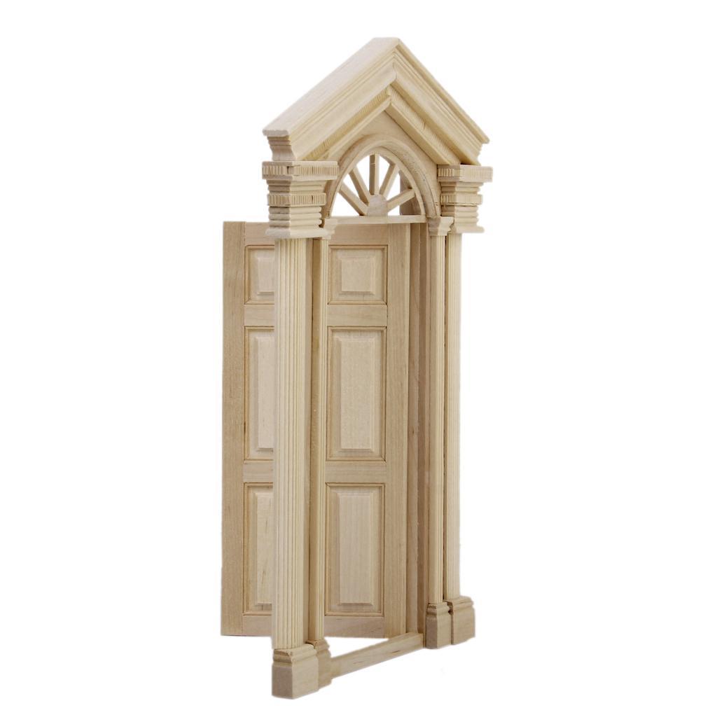 1 12 dollhouse miniature luxury wooden exterior door 6 for 12 pane exterior door