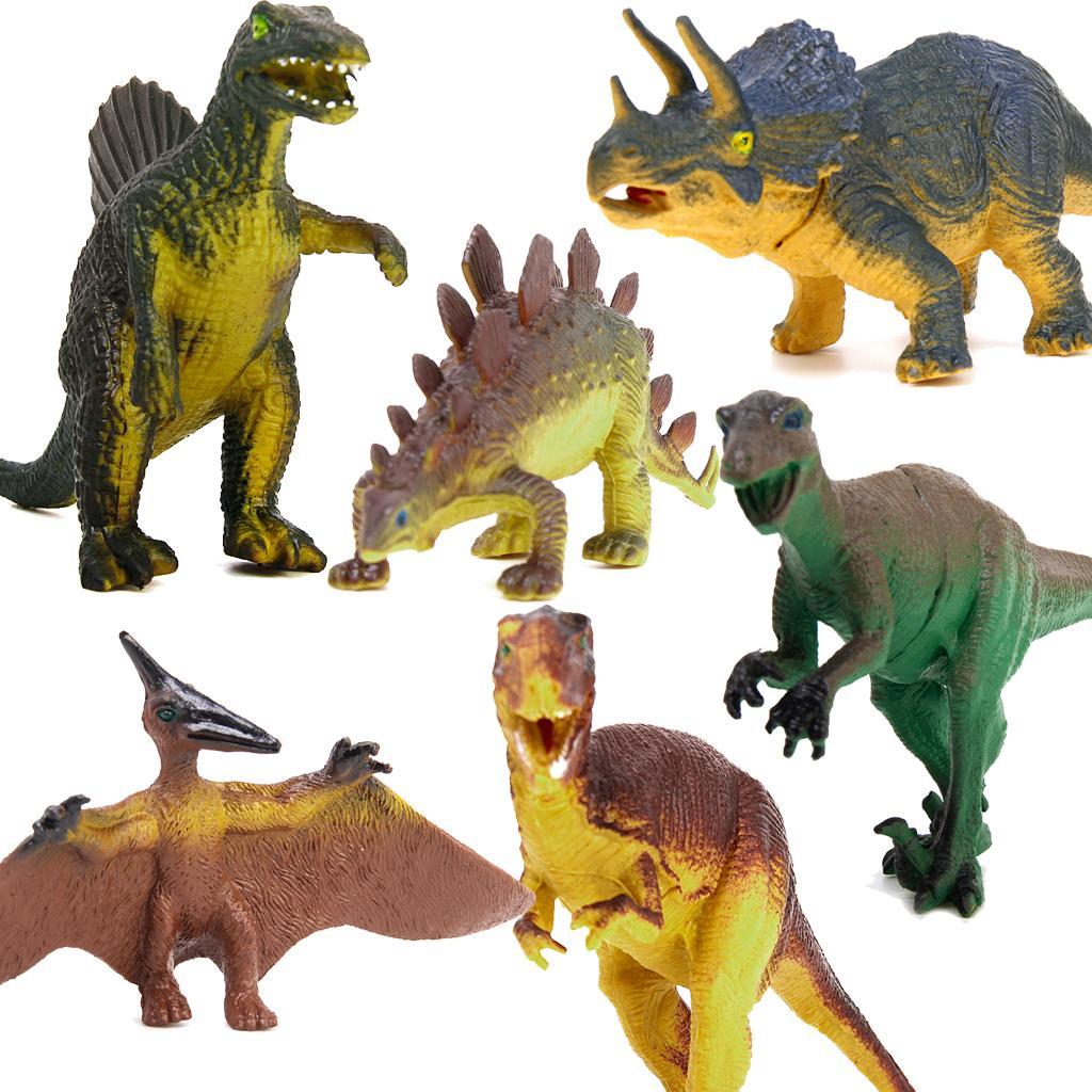 Dinosaur Set Tyrannosaurus Stegosaurus Triceratops Utahraptor Spinosaurus Pterosaur Kids Toy