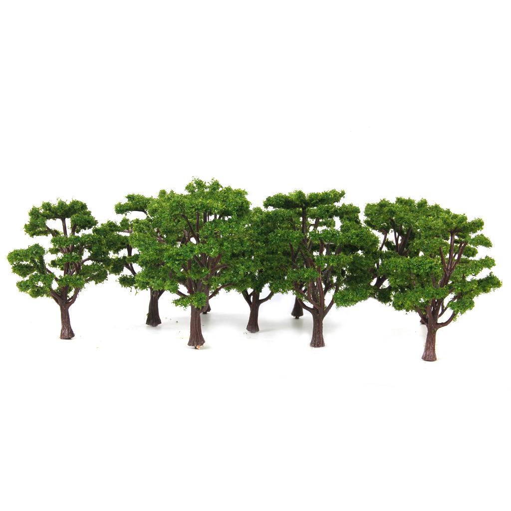 Multi Scale Use Model Tree Scenery 10 Pcs Green 1/100 & 1/150
