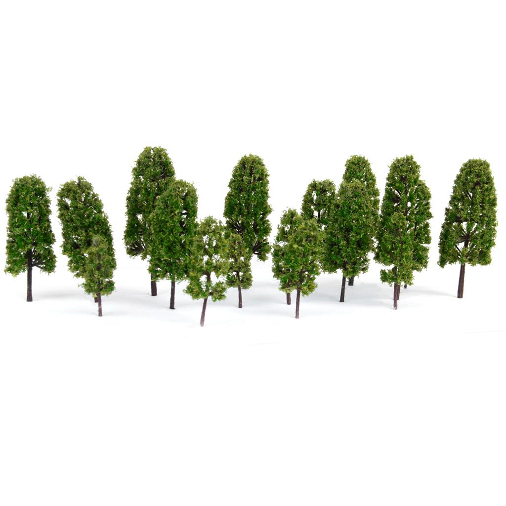 Model Pine Trees Model Railroad Green-4 Sizes