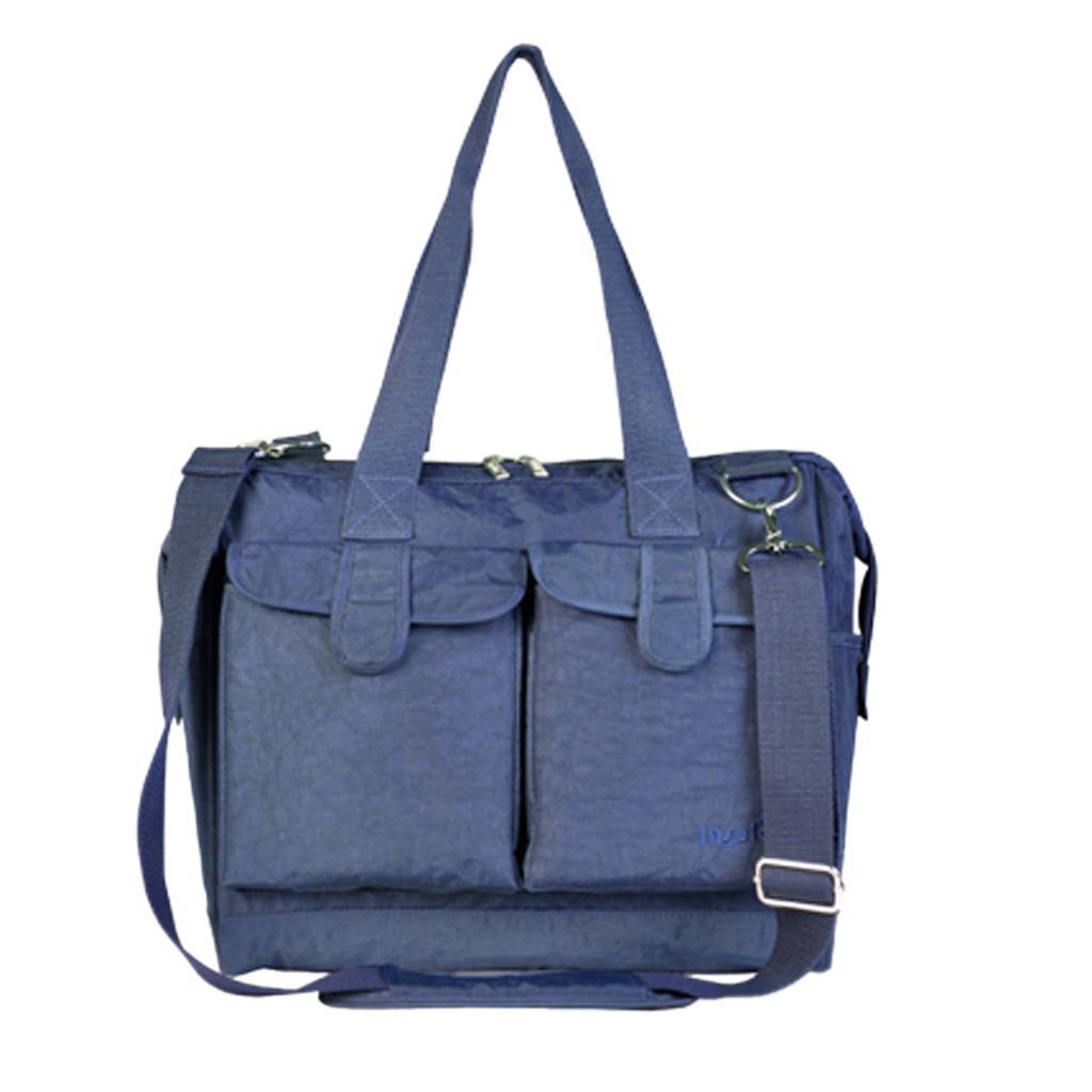 6pcs Set Baby Diaper Nappy Changing Bag Mummy Handbag Navy Blue