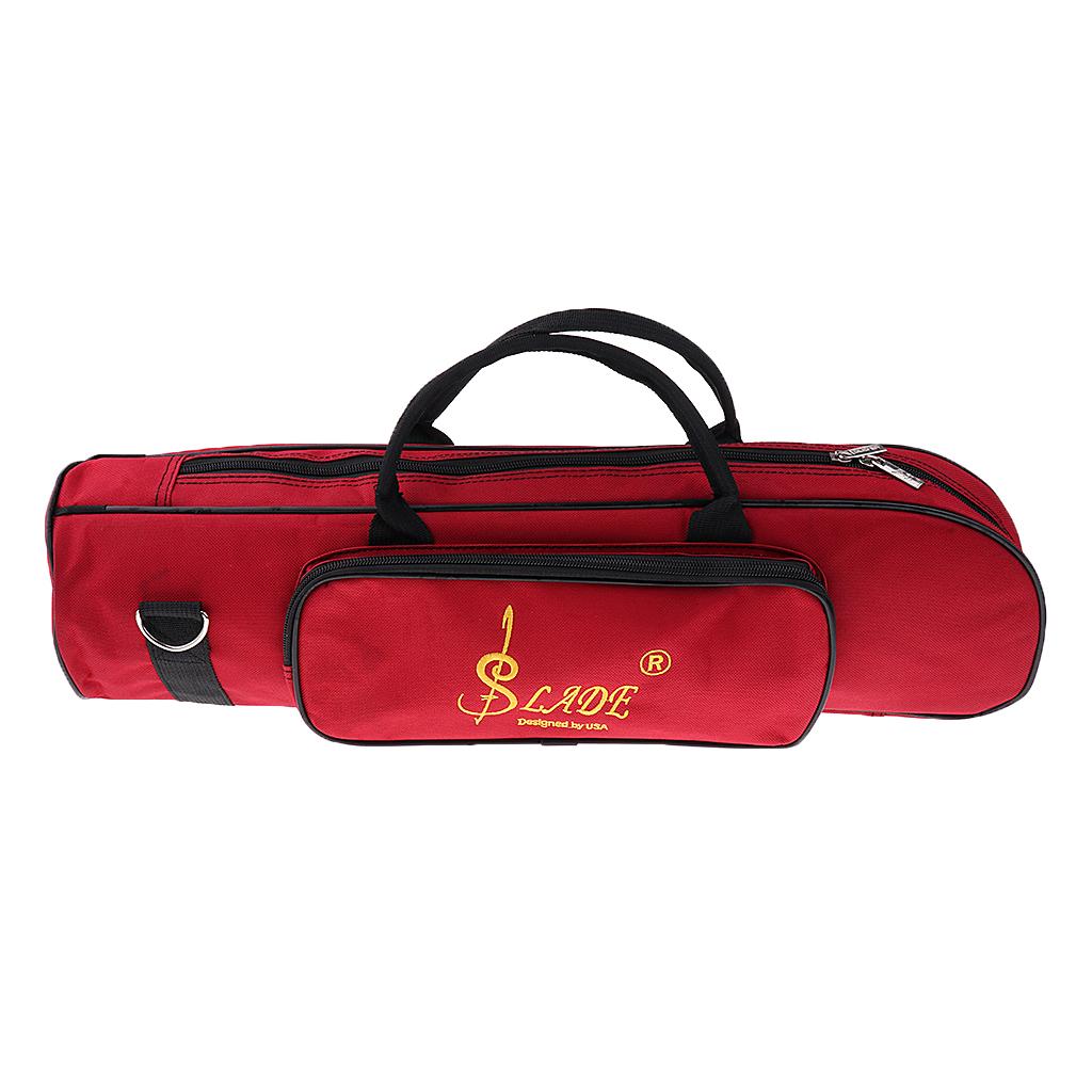 Nylon Padded Trumpet Storage Case Handbag Shoulder Bag Wine Red