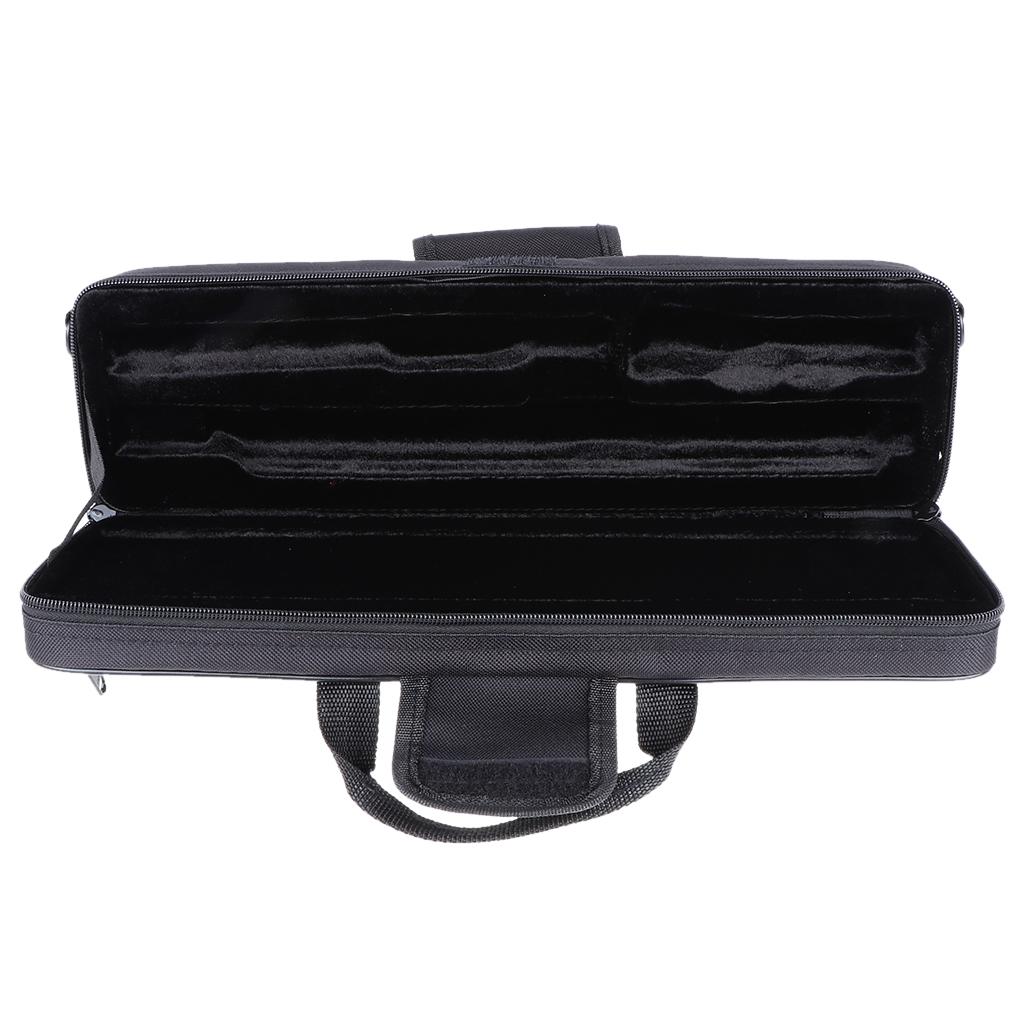 Nylon Padded Flute Case Bag Handbag Shoulder Bag