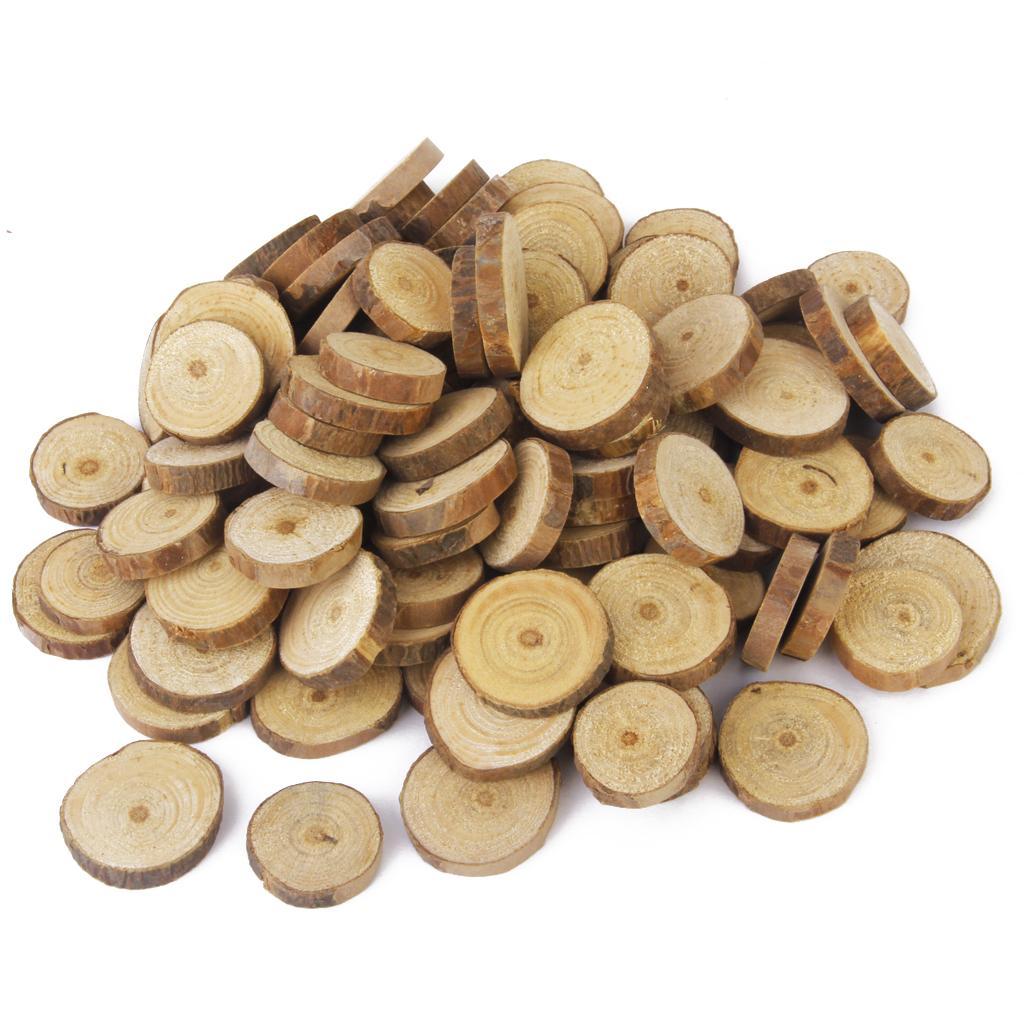 Phenovo Pine Wood Slices for DIY Crafts Wedding Decor 100pcs