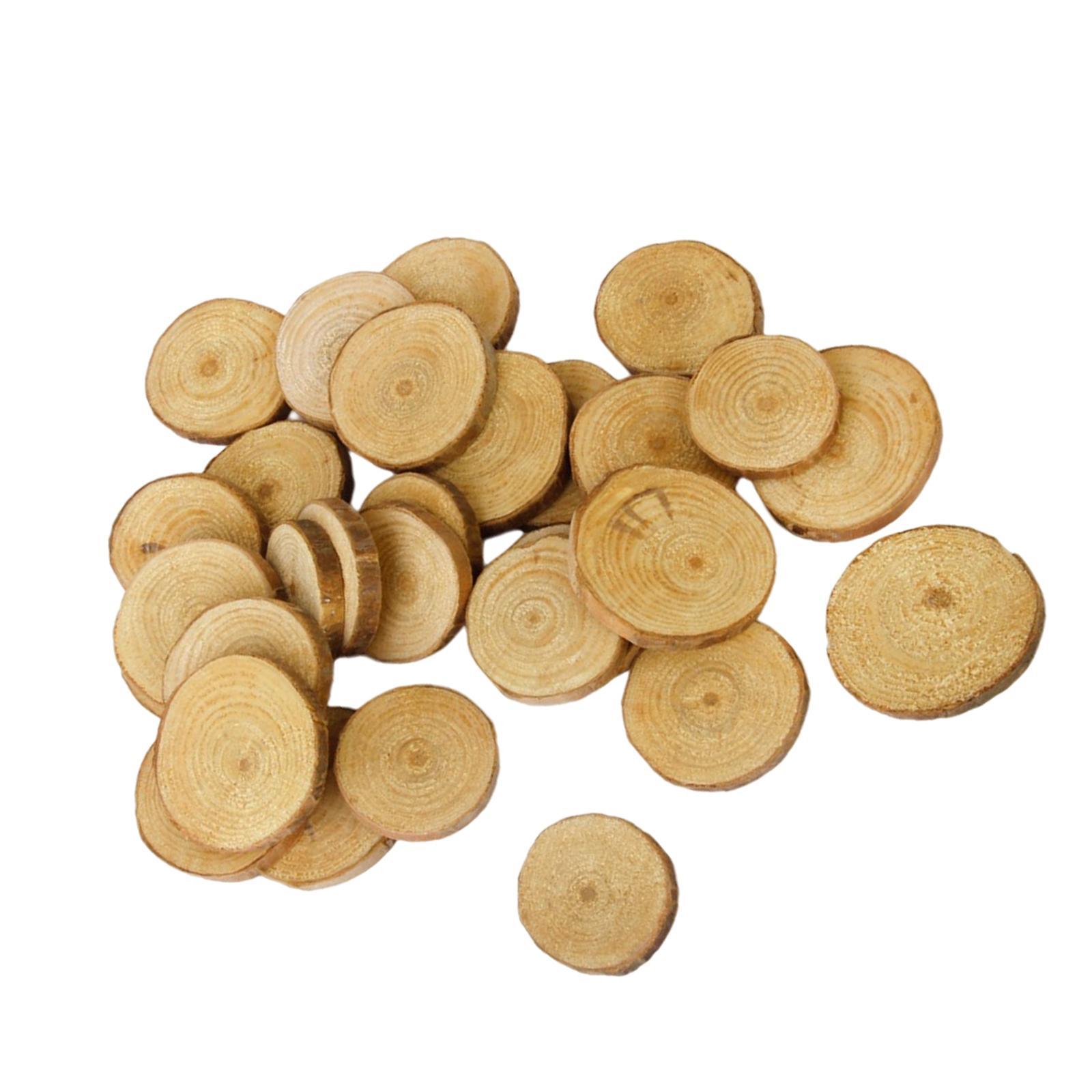 Phenovo Pine Wood Slices for DIY Crafts Wedding Decor 3-4cm 30pcs