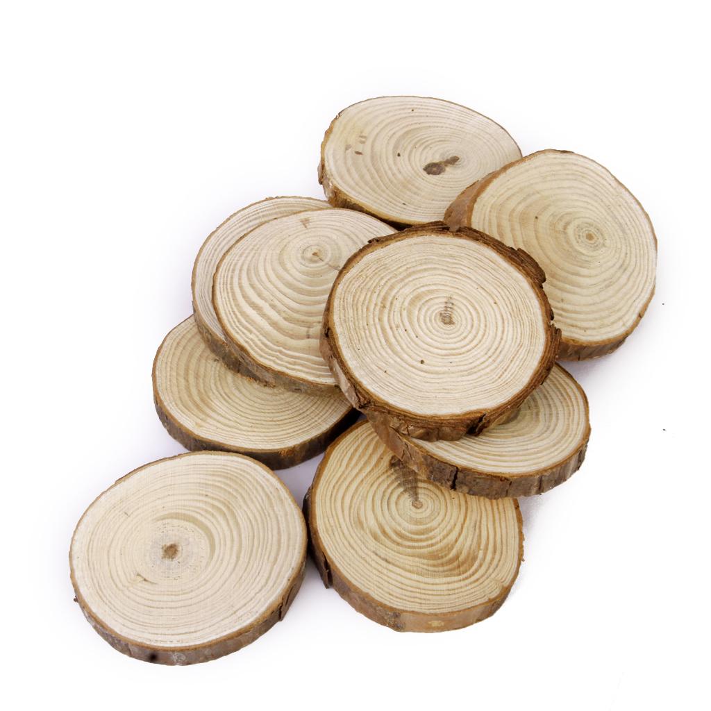 Phenovo Pine Wood Slices for DIY Crafts Wedding Decor 6-8cm 20pcs