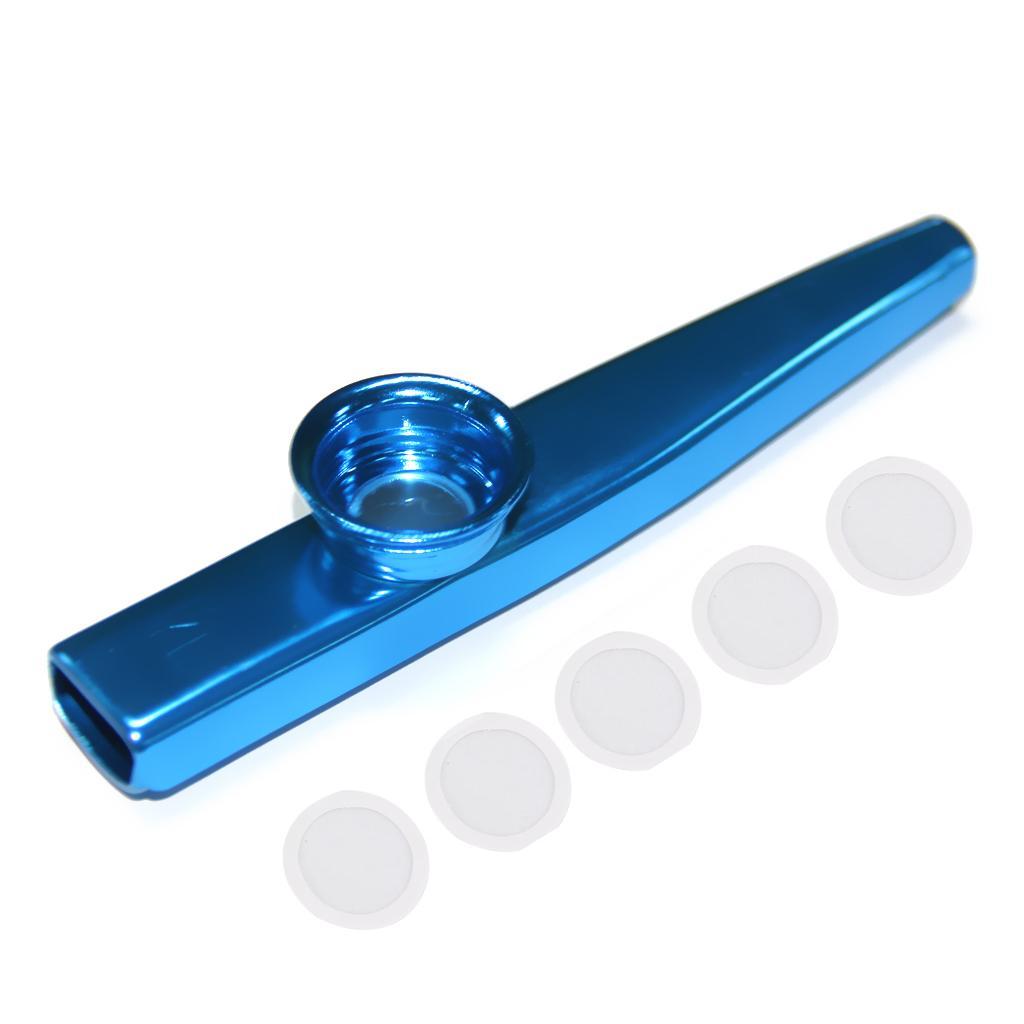 Aluminium Alloy Kazoo with Diaphragm Blue