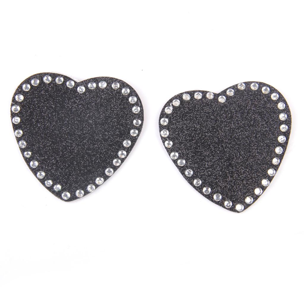 Women's Reuseable Rhinestone Heart Nipple Covers Breast Stickers ...