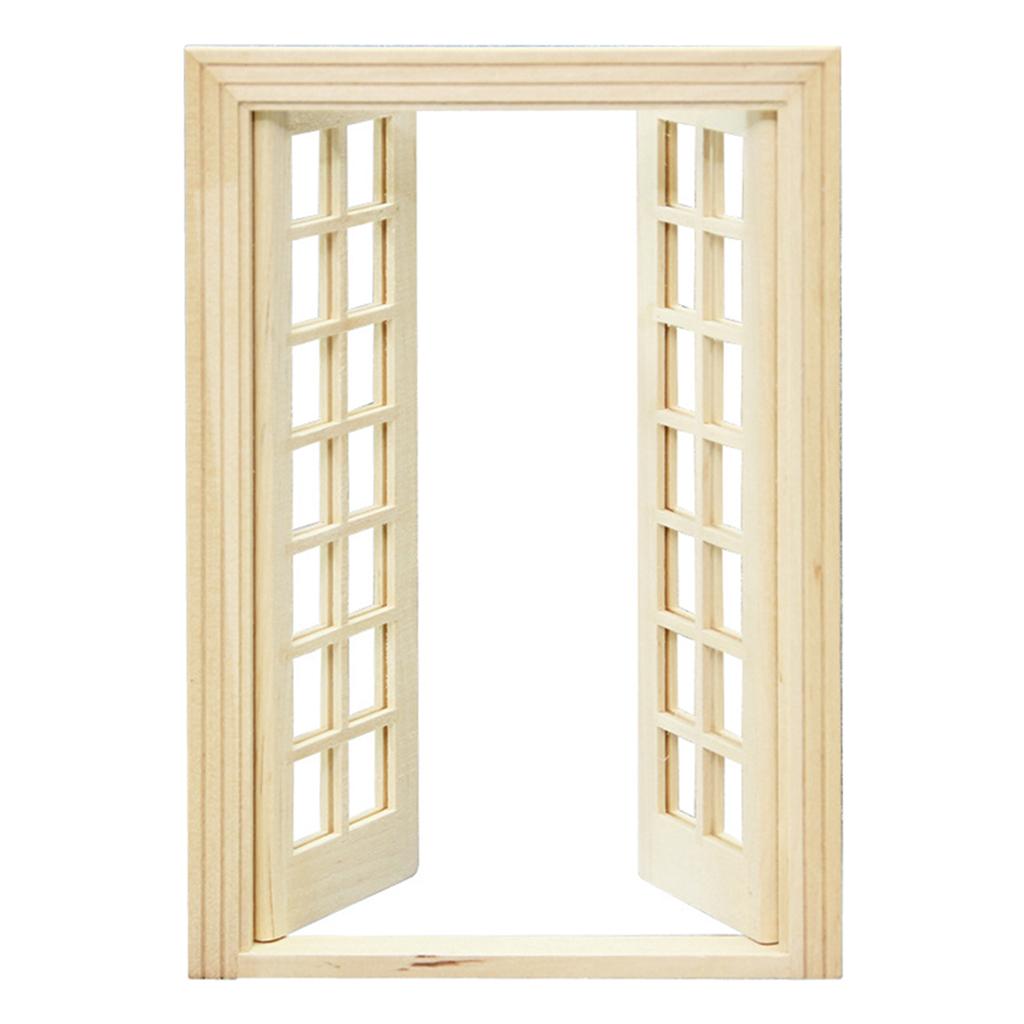 1 12 dollhouse miniature exterior wooden door 28 panel for 12 pane exterior door