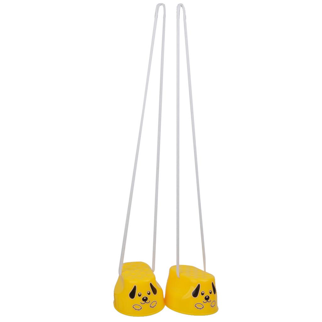Kids Balance Training Smile Foot Stilt Exercise Toys Gift 1Pair Random Color