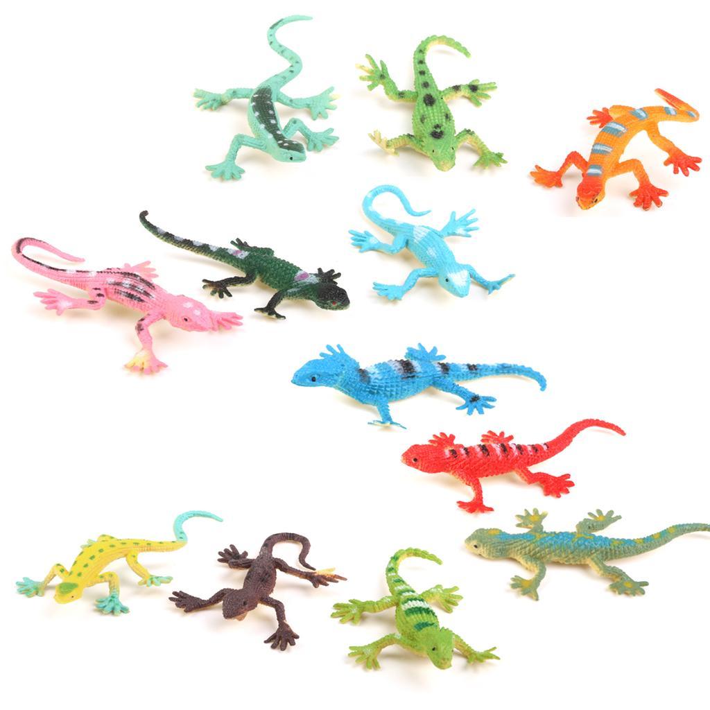 Small Plastic Lizard Gecko Figures Simulation Decoration Kids Toys 12PCS