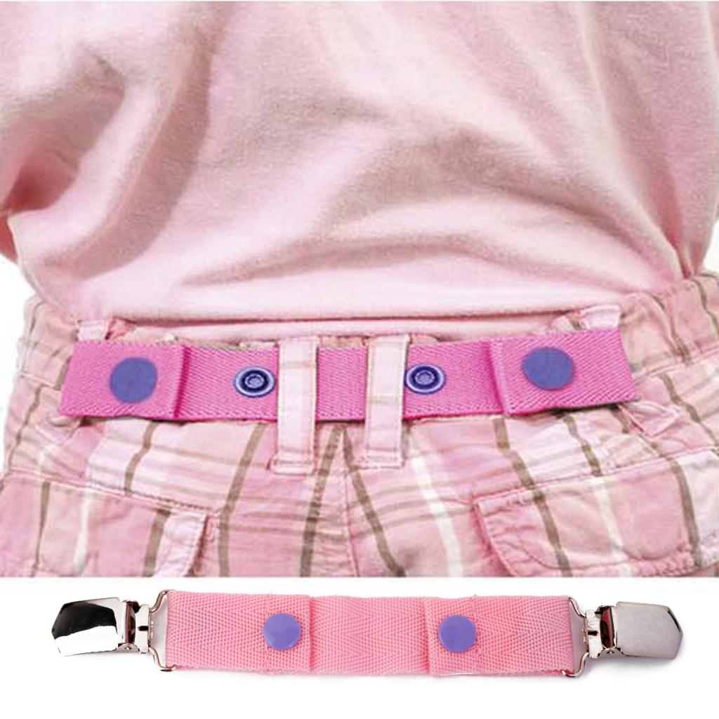 Children Kids Trousers Pants Belt Clip Adjustable for Waist Size Pink