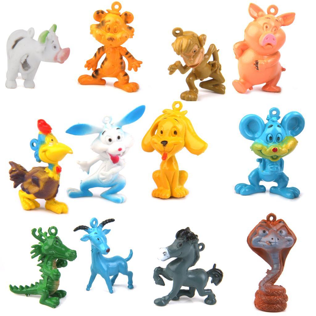 The Twelve Zodiac Plastic Animals Kids Toy