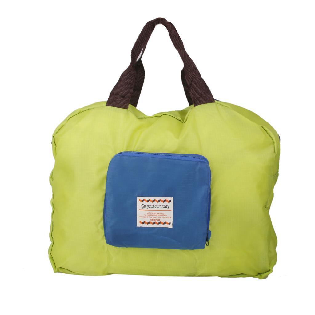 1Pcs Nylon Street Shopper Shoulder Foldable Green