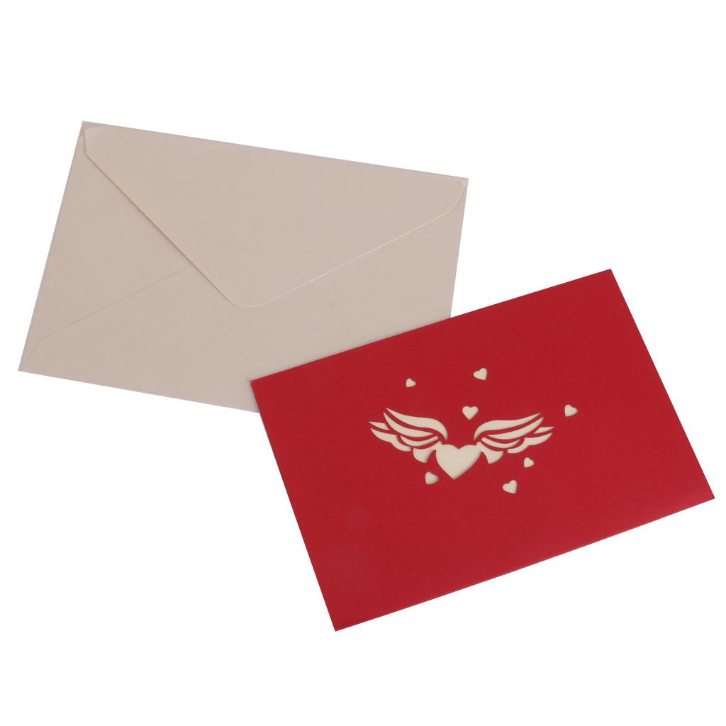 3D Luxury Handmade Christmas Cards Pop Up-Love Heart Greeting Card