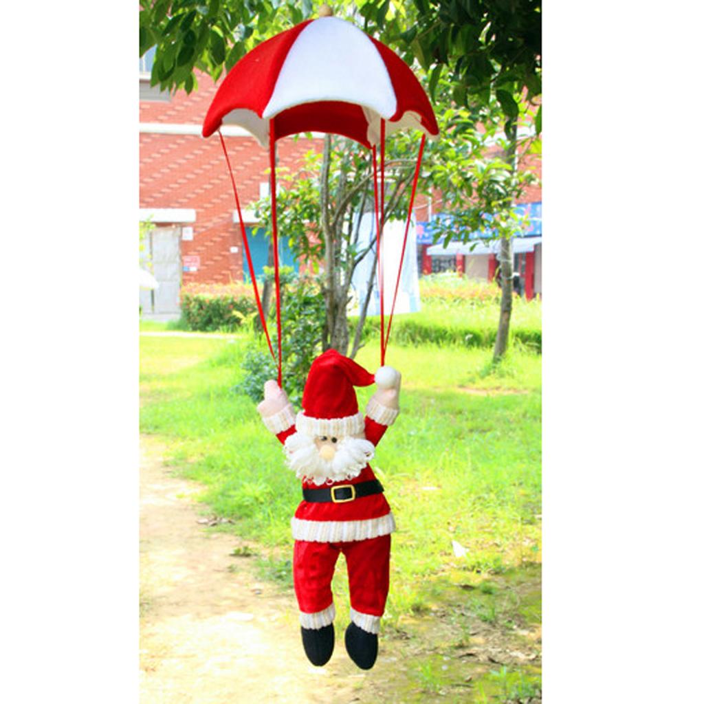 Christmas Santa Doll Parachute Hanging Decoration