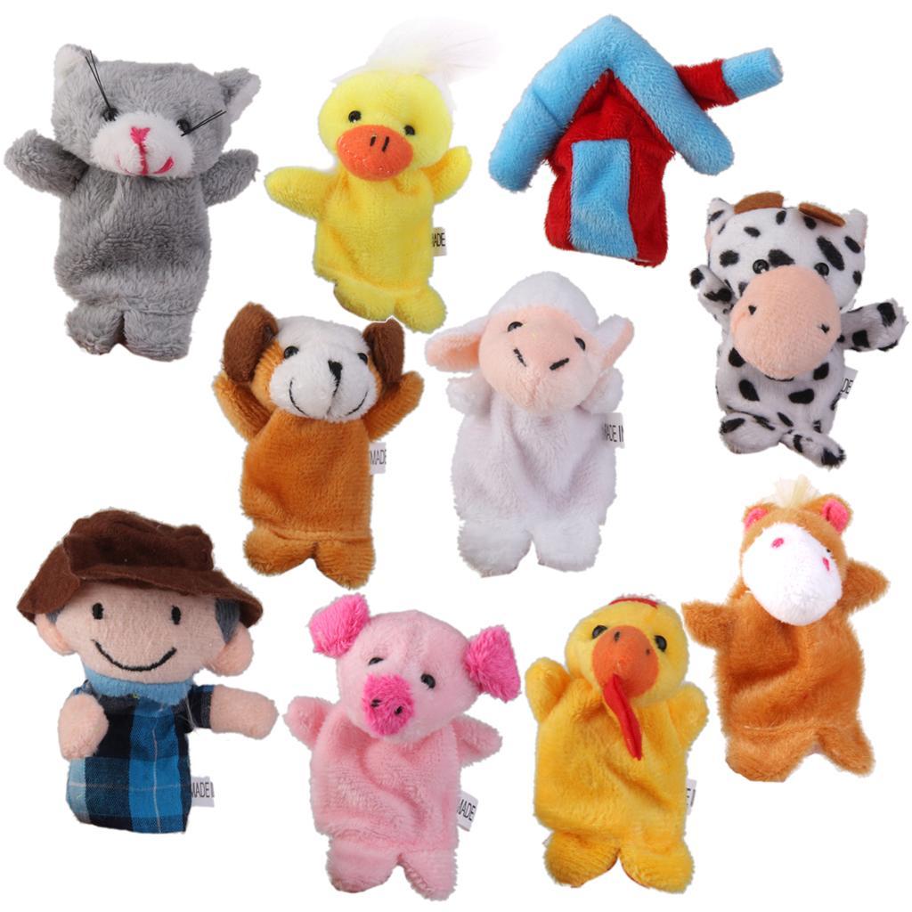 Old MacDonald Farm Animals Finger Puppets Kids Favor Toys 10pcs