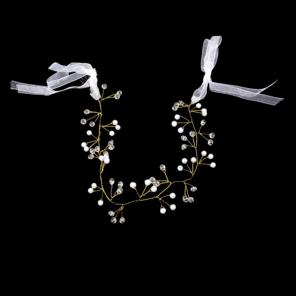 Bridal Headpiece Ribbon Headband Chain Hair Jewelry Hair Accessories