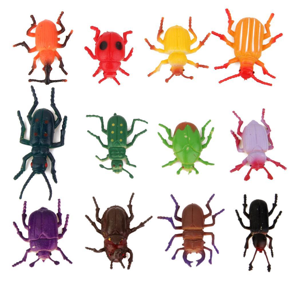 12Pcs Fake Beetles Pretented Trick Play Toy