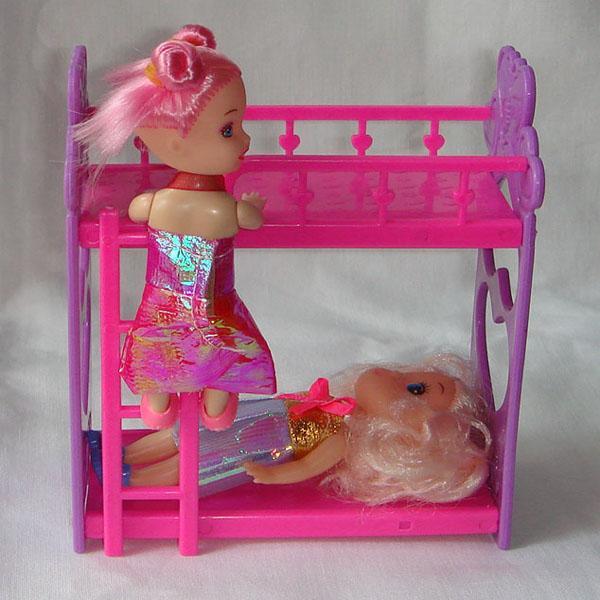 1Pcs Doll Accessory Bunk Bed Random Color