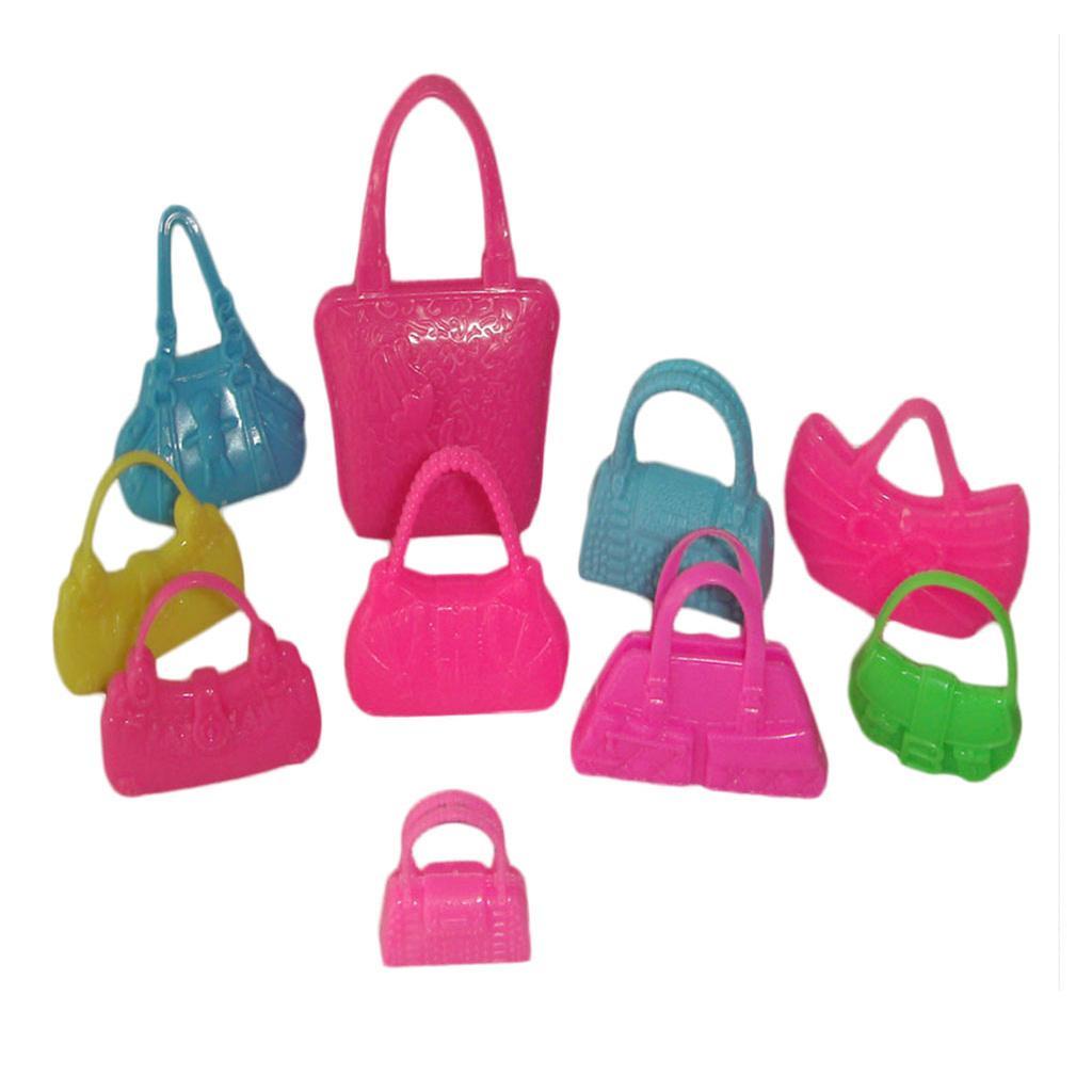 10pcs Doll Accessory Handbags Random color