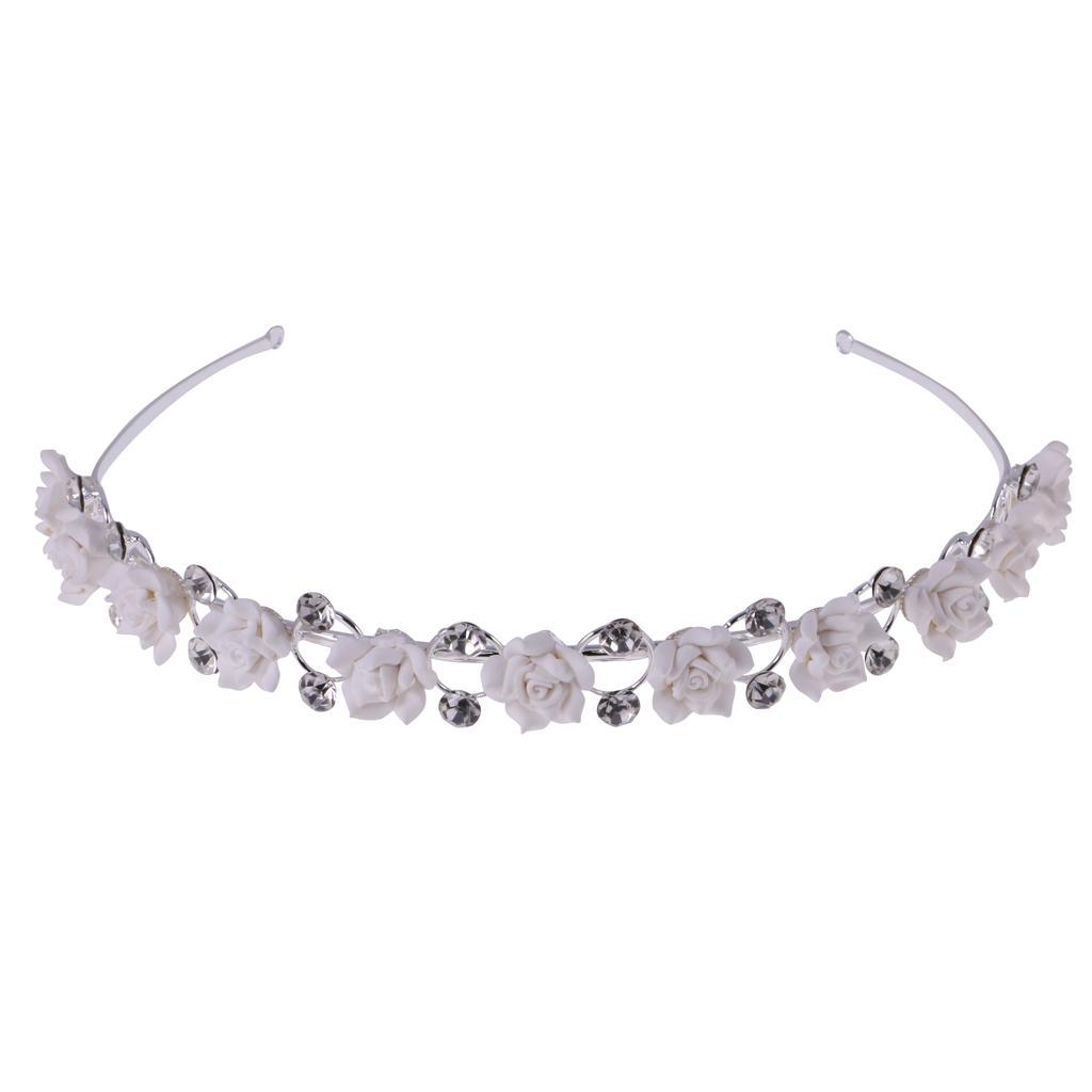Crystal rhinestone Crown Headband Tiara Flower Bridal Wedding Party Jewelry