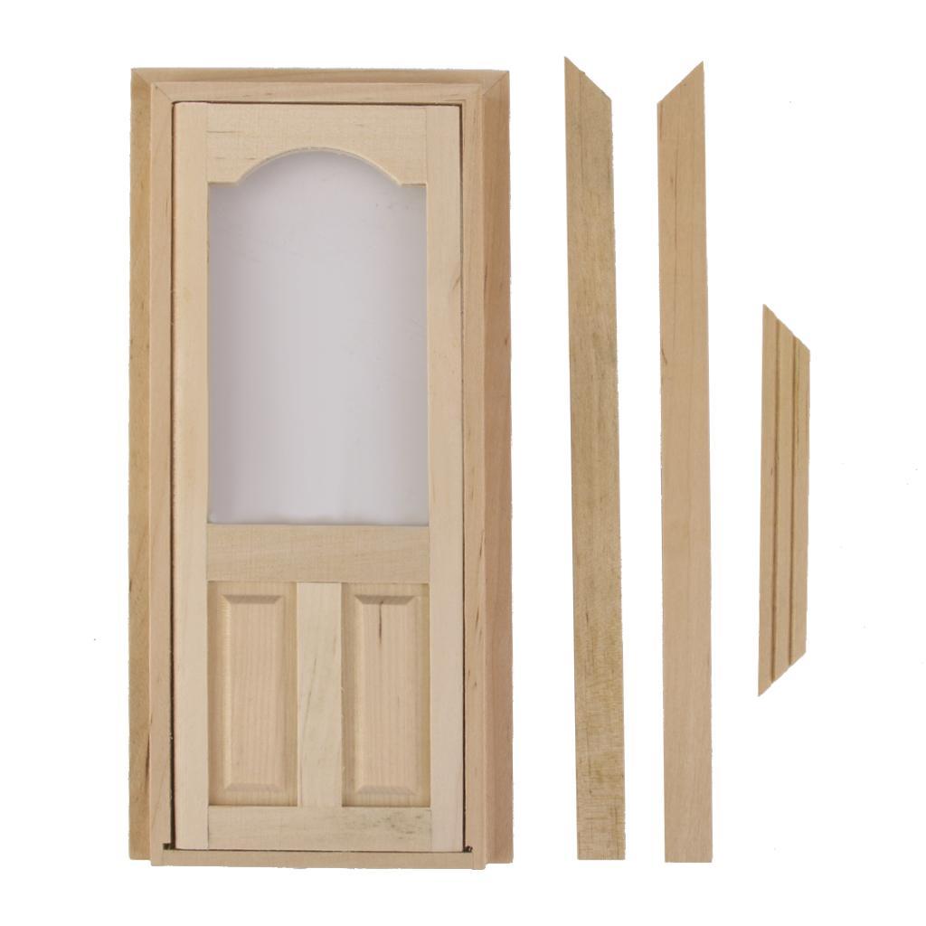 Set of 2 wooden 4 pane window internal door w frame for 12 pane door