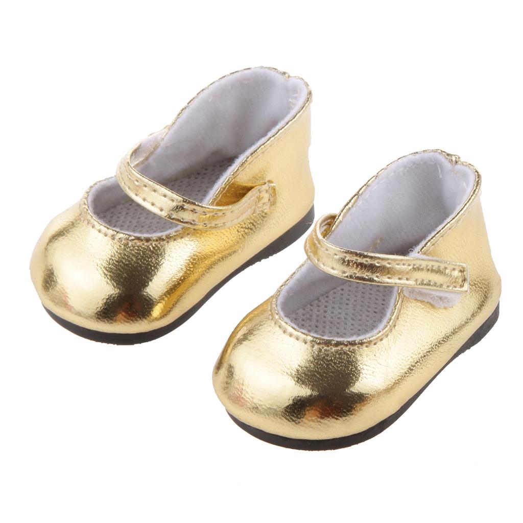 Golden Shoes for American Girl Dolls