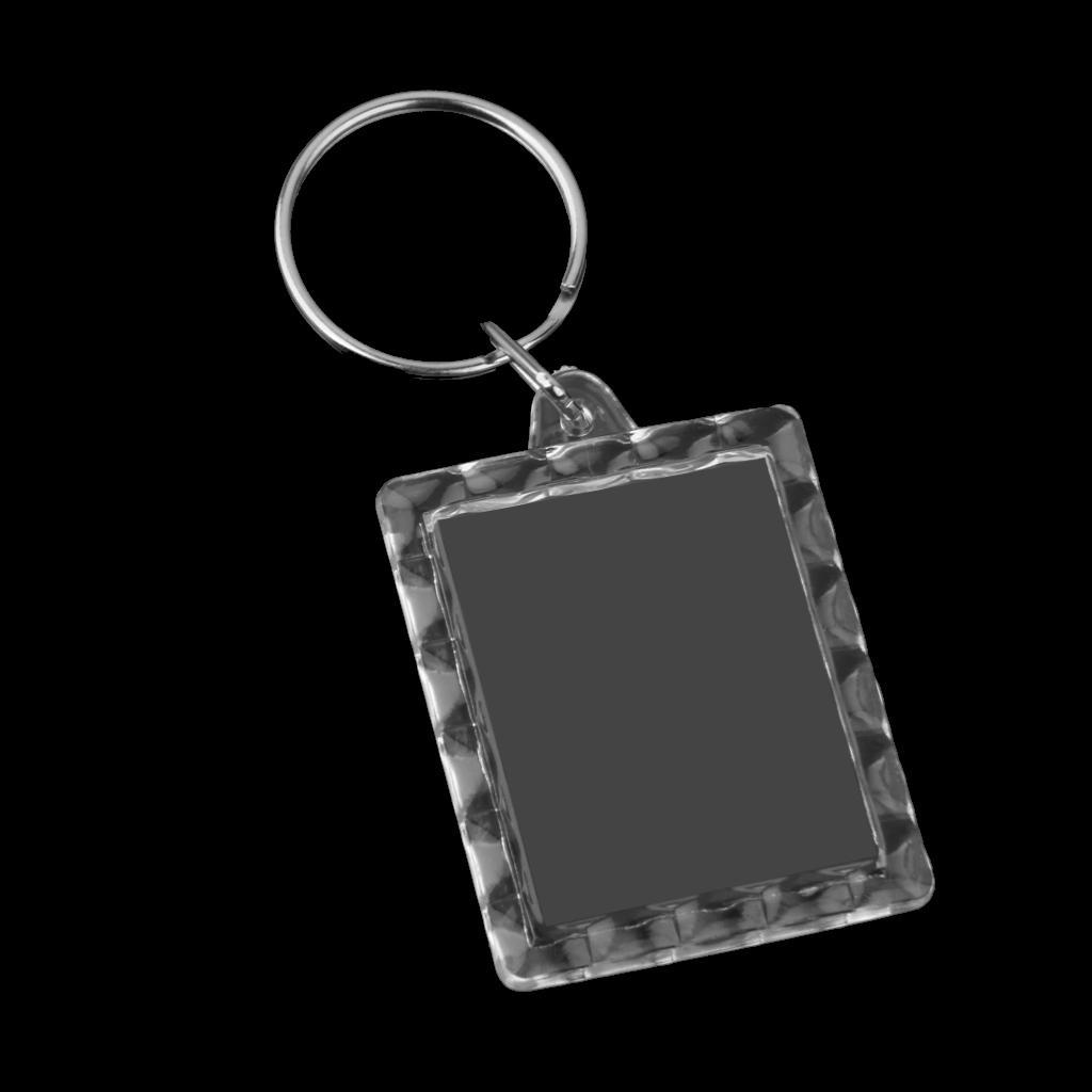 10pcs Rectangle Blank Insert Photo Frame Split Ring Keychain 3.5*4.3cm