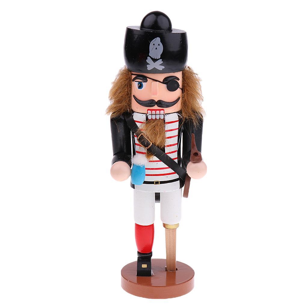 Nutcracker Pirate Wooden Statue 25cm Height