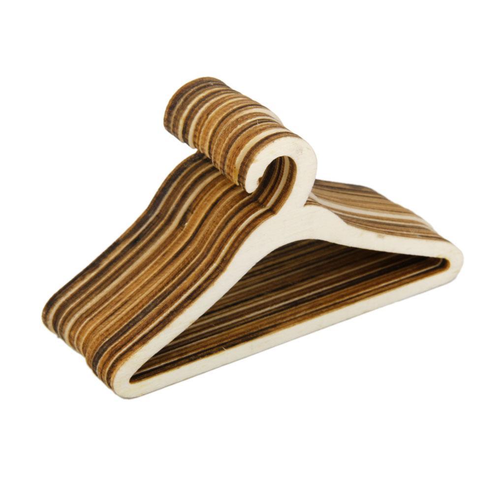 10pcs Wooden Clothes Hanger for 1/4 BJD Dolls