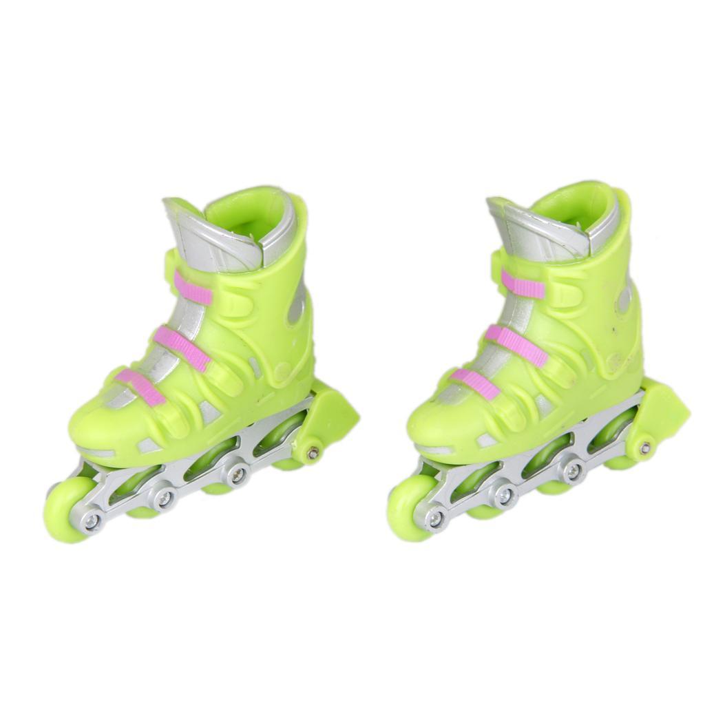 1Pair Finger Roller Skates Sport Games Kids Gift