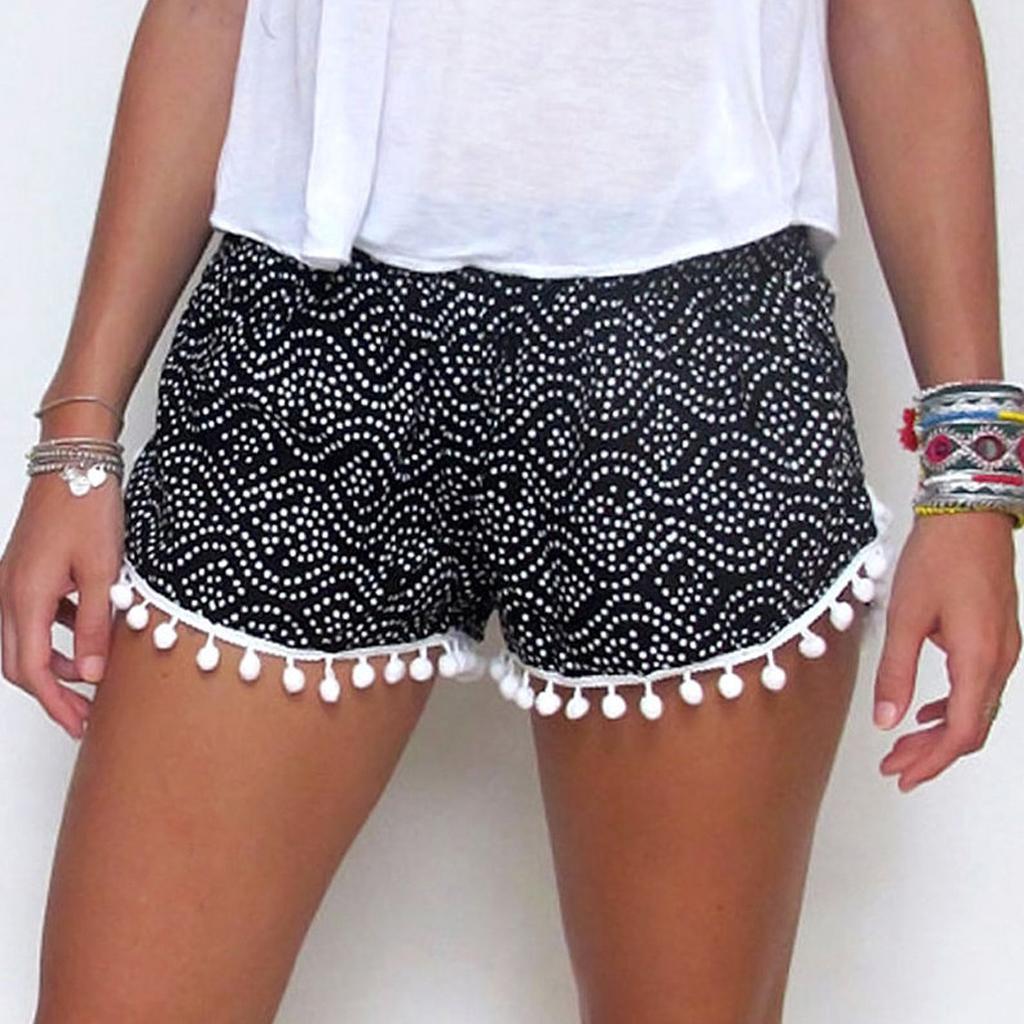 Women Sexy Hot Pants Summer Casual Shorts High Waist Short Black XL