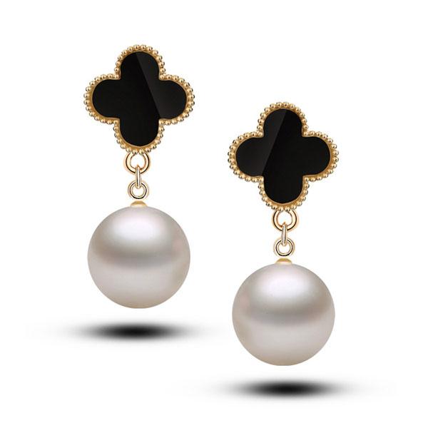 New 2014 Women's Fashion Jewelry Luxury Golden Lucky Clover Ear S...