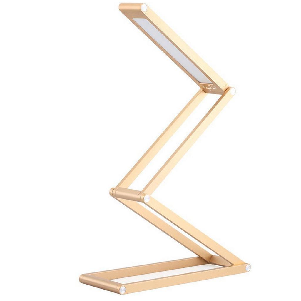 Potable Aluminum Alloy Dimmable Foldable Rechargeable LED Desk La...