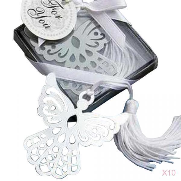 10 Little Angel Bookmark w/ Tassel Baby Shower Christening Bridal Wedding Favour
