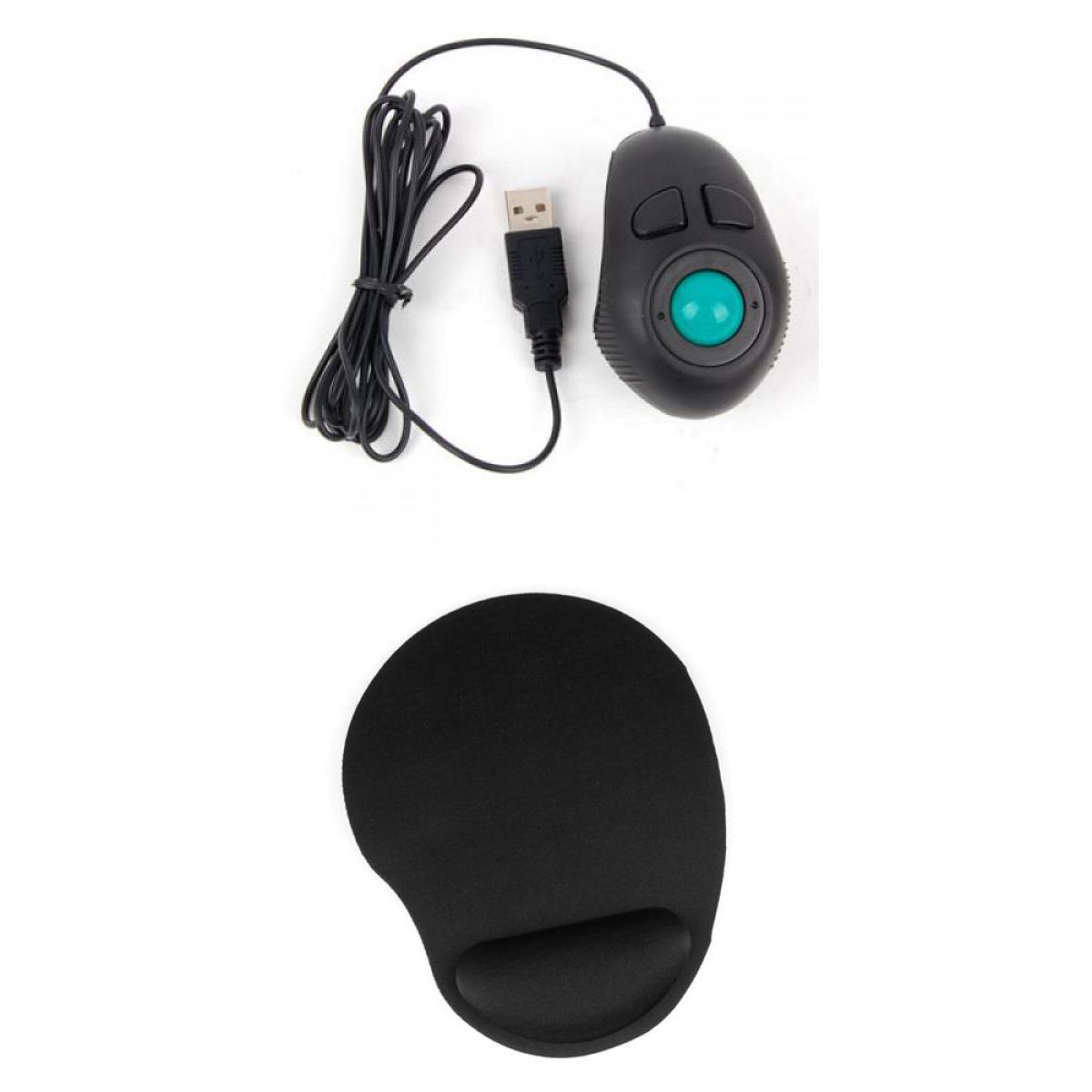Portable Finger Hand Held 4D Usb Mini Trackball Mouse+ Wrist Rest Mouse Mat