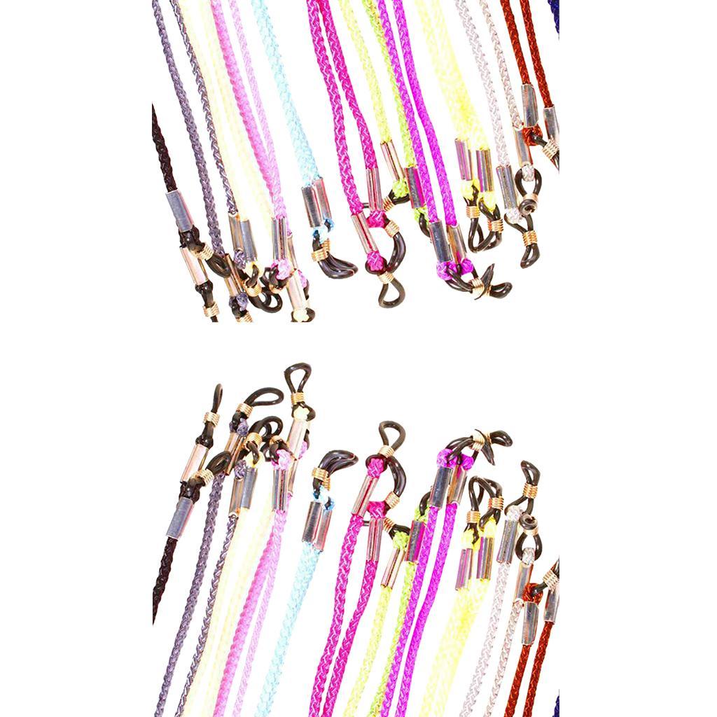 2x Set of 12pcs Multicolor Eyeglass Holder Nylon Cord Glasses Neck Strap