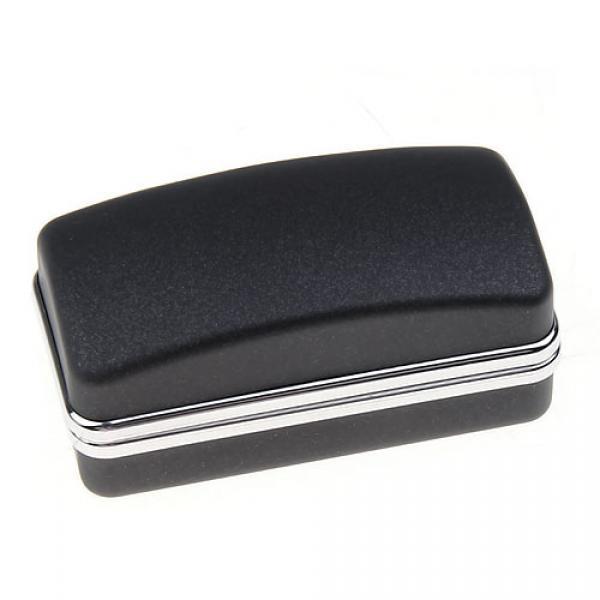 5x BLACK CUFFLINKS CUFF LINK RING JEWELRY DISPLAY STORAGE BOX CASE HOLDER