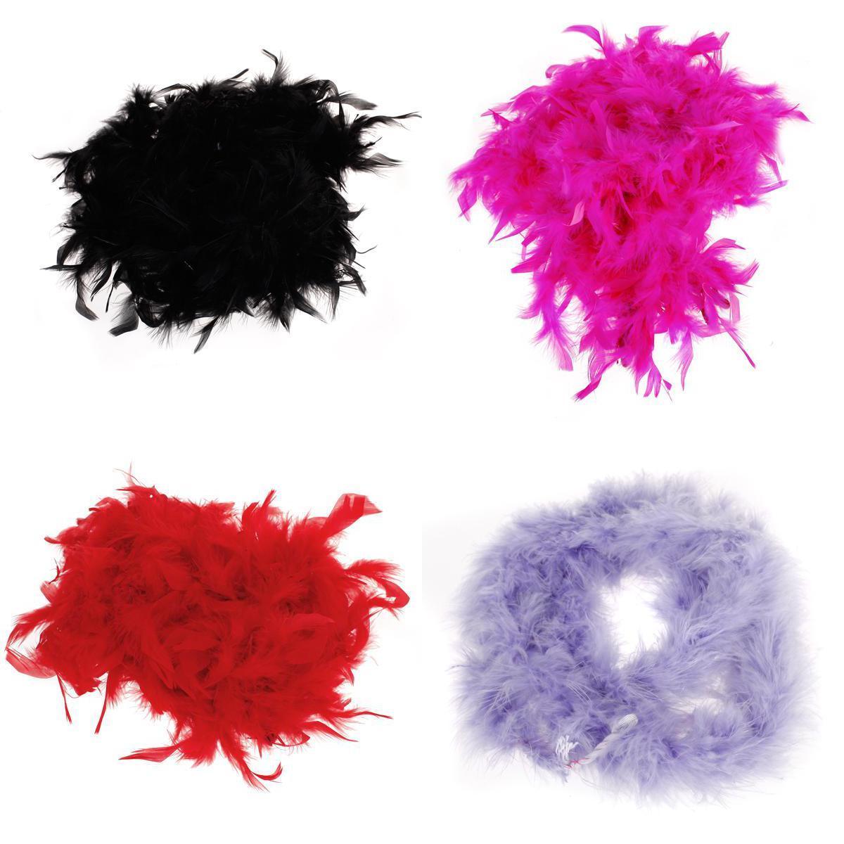 Bulk 4Color Flapper Showgirl Burlesque Feather Boa Fancy Dress Hen Party Costume