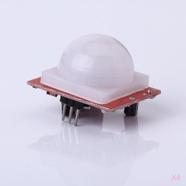 4x AK-GY001 Pyroelectric PIR Infrared Motion Sensor Detector Module  DC 4V - 24V