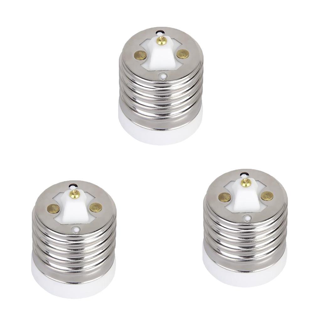 3pcs E40 to E27 Socket Base LED Light Screw Bulb Lamp Socket Adapter Converter