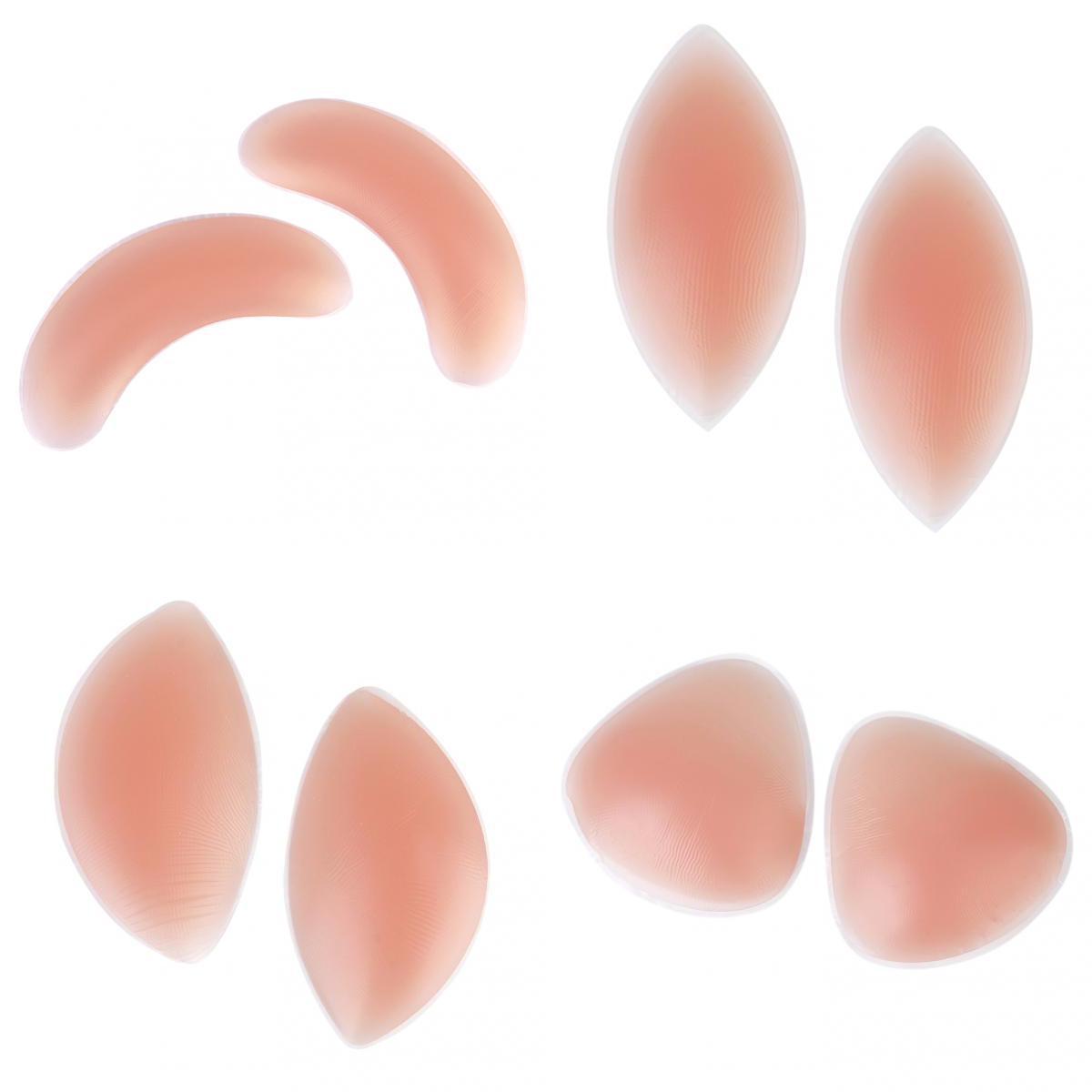 4PAIR Mixed Silicone Gel Bikini Swimwear Bra Insert Breast Enhancer Push up Pads